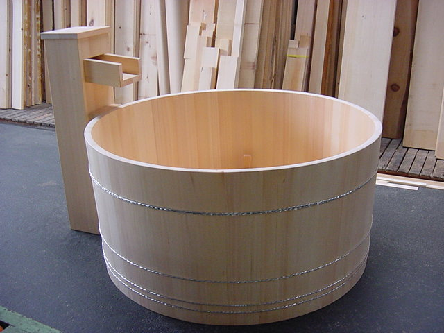 Ofuro Soaking Hot Tubs Round Tub In L A Front