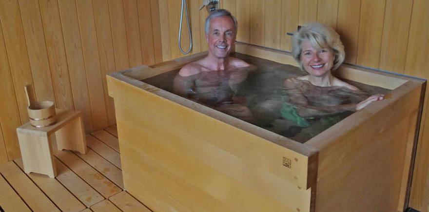 How to make a wooden soaking tub for Japanese bath tube